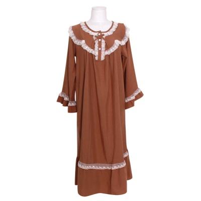 [쿠비카]A라인 소매 소프트 원피스 여성잠옷 W799