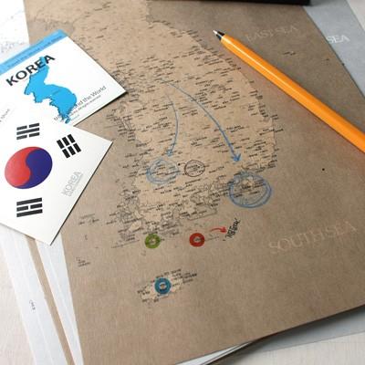 Korea Map Sketch