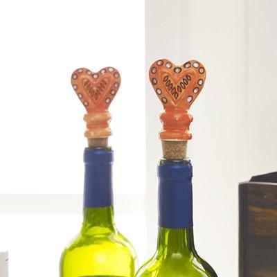 세라믹 와인 스토퍼-하트 오렌지 1263