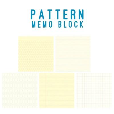 왈가닥스 패턴 메모블럭 - 그리드(grid) (메모지,떡메모지,메모패드)