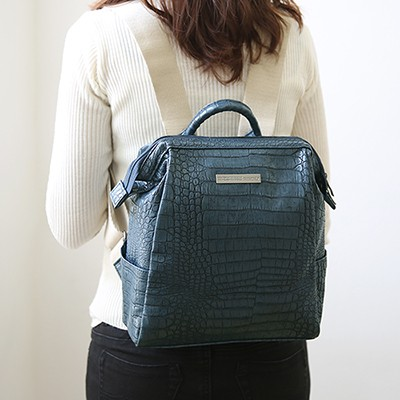 OFFICE LEATHER WIRE BACKPACK MINI  레더 백팩 미니