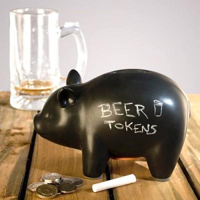 럭키스 블랙보드 돼지 저금통 Capitalist Pig