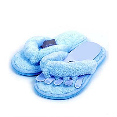 걸레부착 초극세사 발가락 슬리퍼-블루