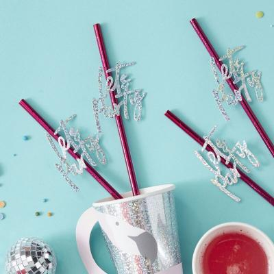 Lets Party 페이퍼 스트로우 Party Paper Straws GR