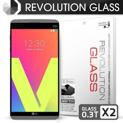 [프로텍트엠] 레볼루션글라스 0.3T 강화유리방탄액정보호필름 2장 LG V20 F800