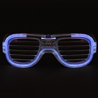 LED 와이어점등 셔터쉐이드안경 [화이트]