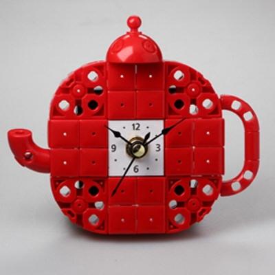 주전자7 블럭시계 (170376) 블럭레고형시계