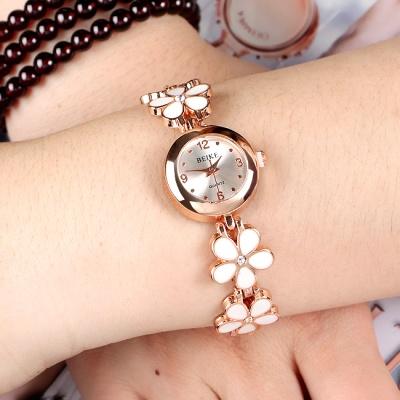 로맨틱 화이트 여성 손목시계