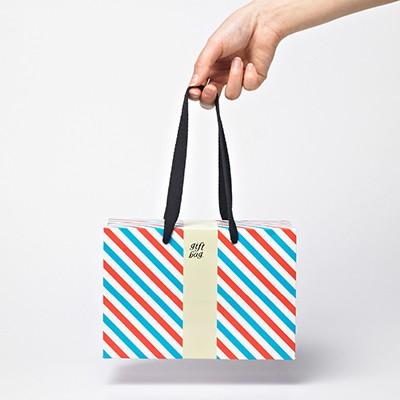 PLUSBOX GIFT BAG (Letter Stripes-Small) (쇼핑백/포장박스)