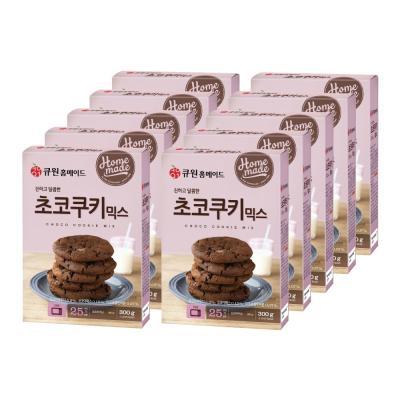 (한박스/10개입) 큐원 초코쿠키 믹스 (오븐용)