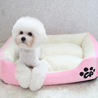 심플배색 강아지방석 쿠션 마약방석 - 로즈핑크