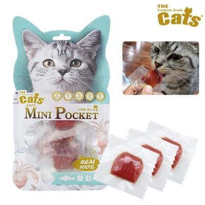 더캣츠 그대로 미니포켓 참치 10p (고양이간식)