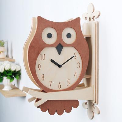 타임데코 부엉이 양면벽시계 (BR) [양면시계]