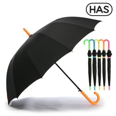 [헤즈] 12살 네온컬러 자동 장우산 HS1A1260(NEON-ORG)