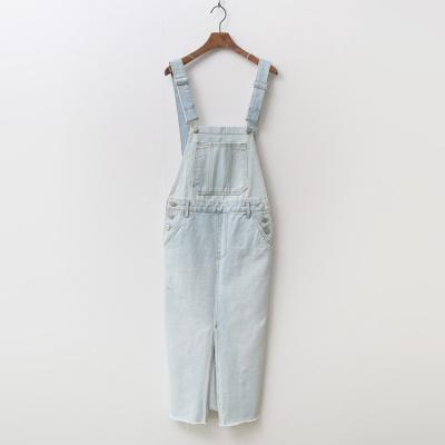 Light Denim Overalls Long Dress