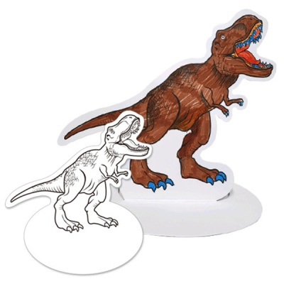 [아티바바] 공룡 입체 색칠보드/색칠 공부 칼라링북