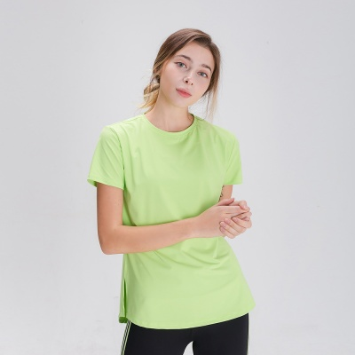 스플래쉬 사이드 슬릿 티셔츠 DFW5024 라임
