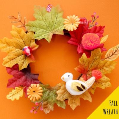 가을 단풍 리스만들기