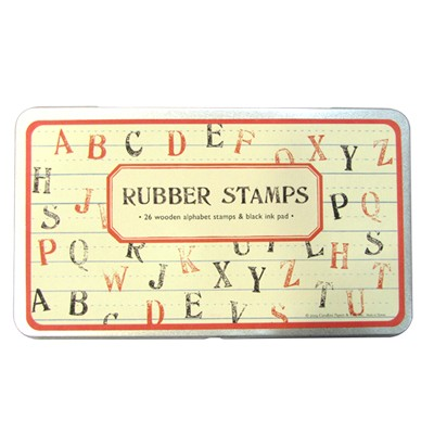 Cavallini 스탬프세트-Rubber Stamps 대문자 (CSPL - 2)