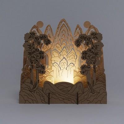 [퍼니피쉬] 크래프트라이츠 - 일월오봉도 - LED/Candle
