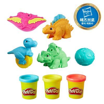 플레이도우 다섯 공룡 플레이세트 플레이도