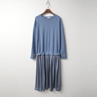 Satin String Long Dress