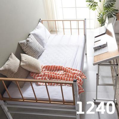 내방에 딱 철제 슈퍼싱글침대 +각도조절 테이블 1240