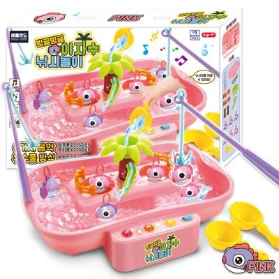 빙글빙글 야자수 낚시놀이세트 핑크 장난감 물고기