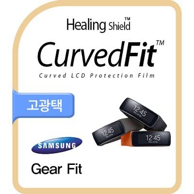 [힐링쉴드] 기어 핏(Gear Fit) CurvedFit 고광택(투명) 액정보호필름 3매+외부보호필름 3매(HS143828)