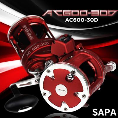 싸파 AC600-30D 장구통릴 12볼베어링 우핸들 바다낚시