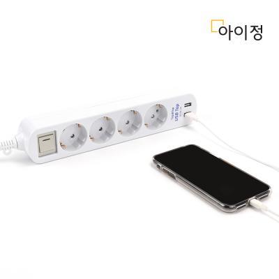 아이정 Tap&Tap 과부하차단 USB 멀티탭 4구 2.5M