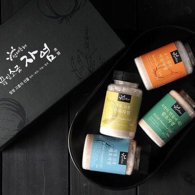 [퓨어플랜] 자염 소금 4종 선물세트