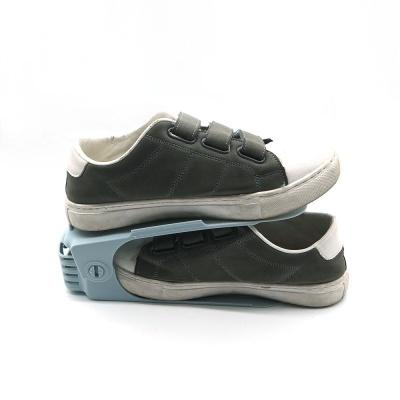 좁은현관정리 신발정리선반 높이조절 신발정리대 파랑