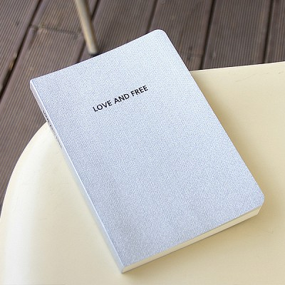 LOVE AND FREE blank note ver.02 - silver