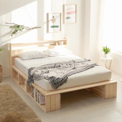 평상형 원목 수납형 침대 멀티수납 퀸 Q