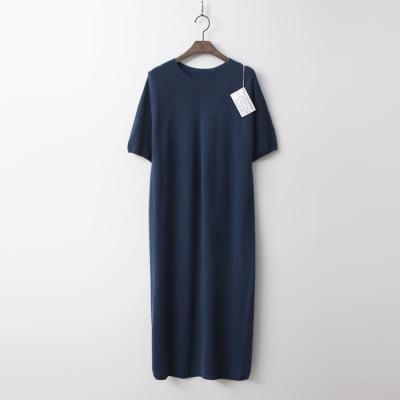 Laine Wool N Cashmere Long Dress - 반팔