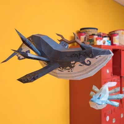 [톰텐] 페이퍼크래프트 고래의 비행(카이) Whale Flight(Kai)