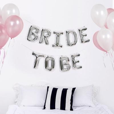 은박풍선세트 BRIDE TO BE 실버