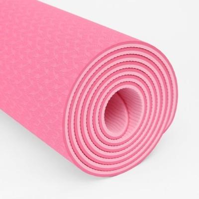 TPE 양면 2컬러 요가매트 6mm 핑크