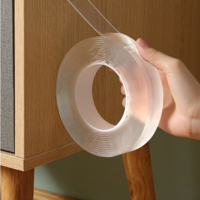 흔적없는 양면 투명 방수실리콘 강력테이프 3x3cm
