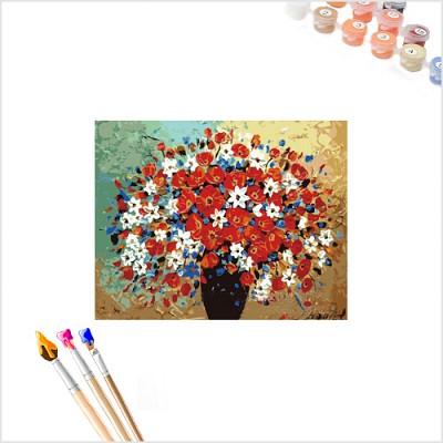 [ DIY 그림그리기 ] 명화명작 -  고요함 (만개, 화병의 꽃)  (색칠공부 그림그리기 인테리어 취미생활 그림태교