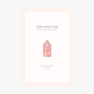 쁘띠 포스트카드 엽서 - Red house