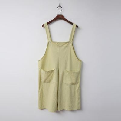 Linen Cotton Shorts Overalls
