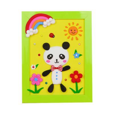 DIY 클레이액자 산책하는 팬더