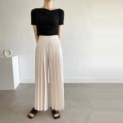 Simon Pleated Wide Pants