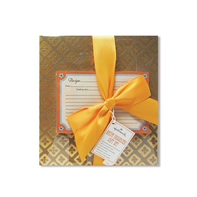 홀마크 레시피북 Neutral and Orange Recipe Book Gift Set-TOG4056
