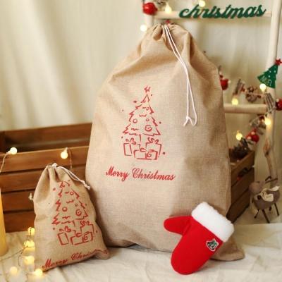 패브릭 산타 선물자루 (대) 트리