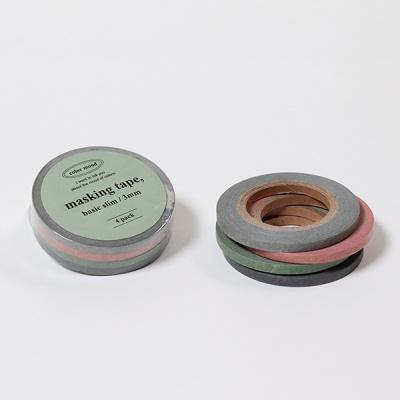 컬러 무드 마스킹 테이프 3mm (4개 세트)