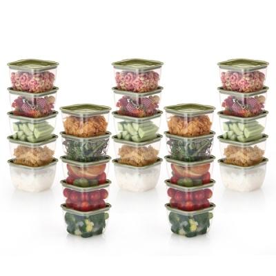 한끼밥 냉동밥 전자렌지용기 400ml 25개(그린)