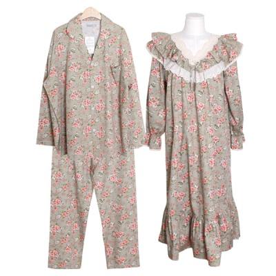[쿠비카]V넥 이중 프릴 레이스 원피스 커플잠옷 WM298